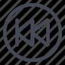 btn, circle, first, goto icon