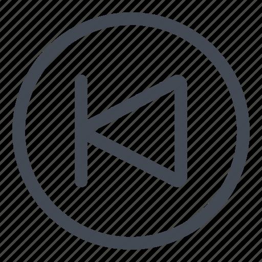 btn, circle, goto, previous icon