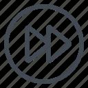btn, circle, forward, play icon