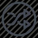 btn, circle, shuffle icon