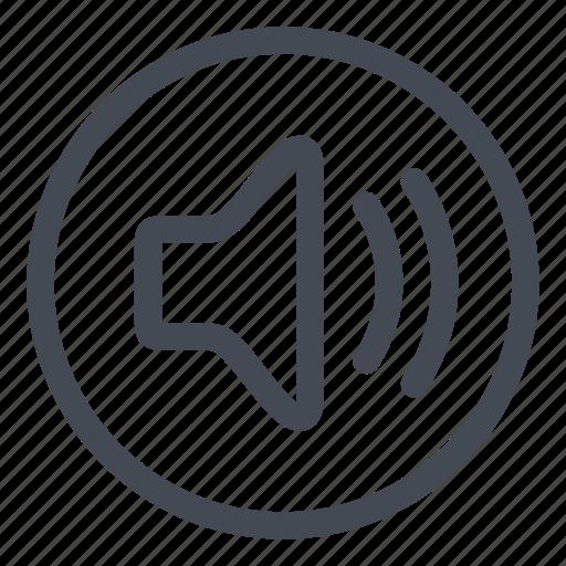 btn, circle, high, sound icon