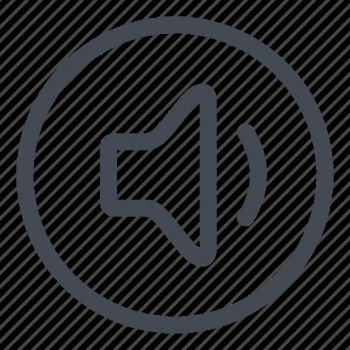 btn, circle, low, sound icon