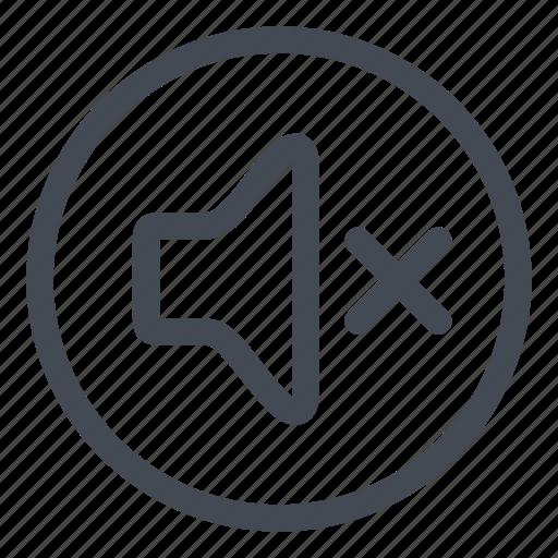 btn, circle, mute, sound icon