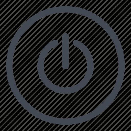 btn, circle, standby icon