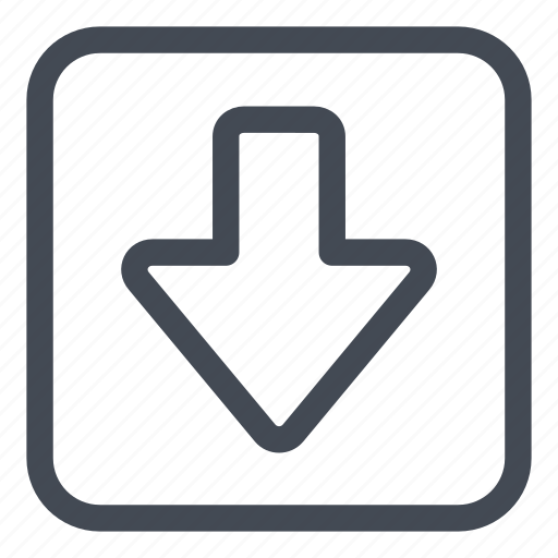 arrow, btn, down, rounded icon