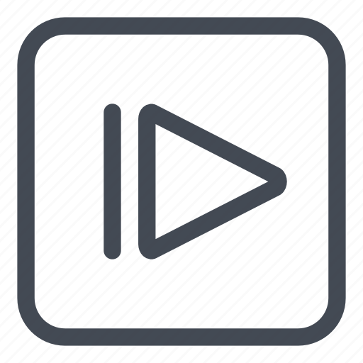 btn, motion, play, rounded, slow icon