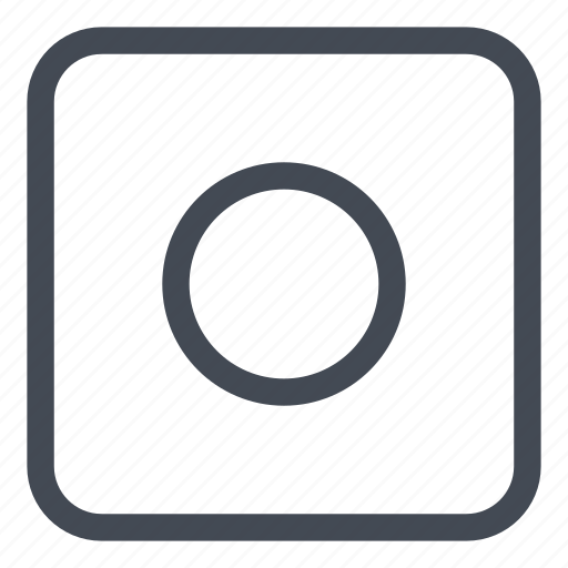 btn, record, rounded icon