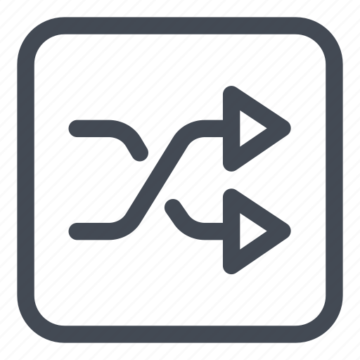 btn, rounded, shuffle icon