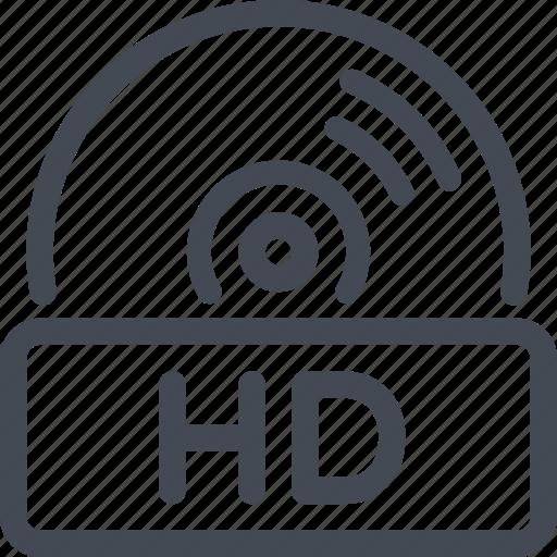 disc, hd, quality icon