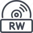disc, quality, rw icon
