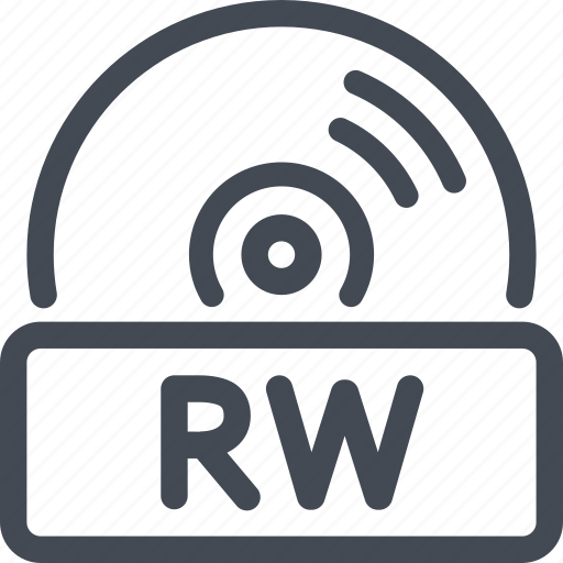 disc, quality, rw icon