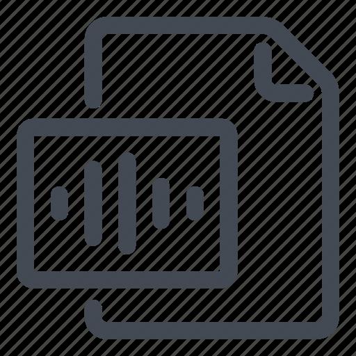 create, document, new, sound icon