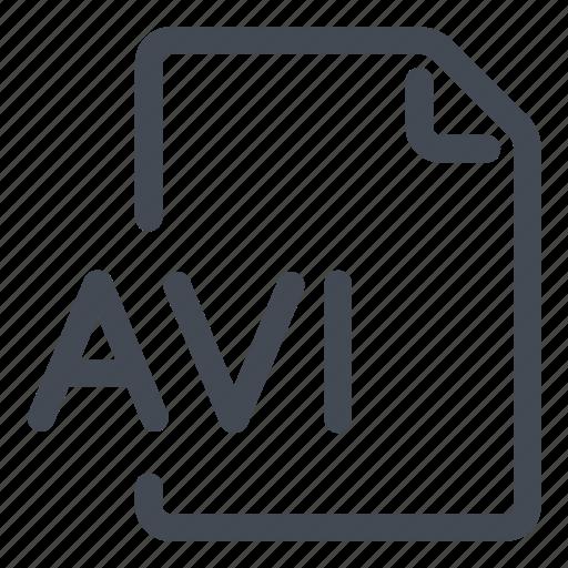 avi, extension, file, type icon