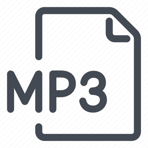 extension, file, mp3, type icon