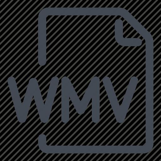 extension, file, type, wmv icon