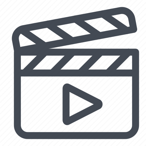 action, clap, film, movie, play icon