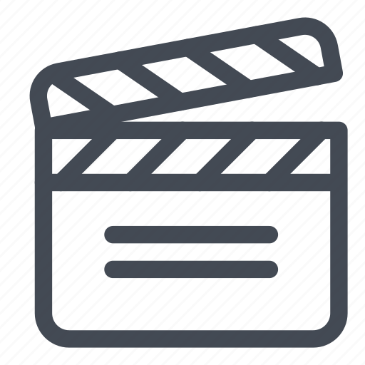 action, clap, film, movie, text icon