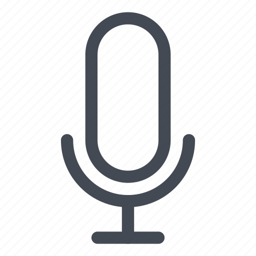 activated, micro, on, radio, record, retro, voice icon