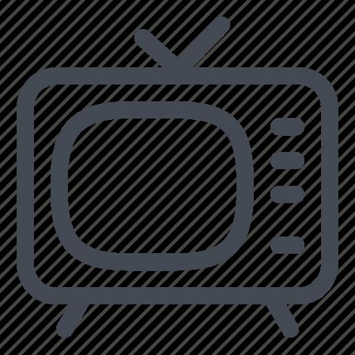 antenna, catodic, retro, tv, vintage icon