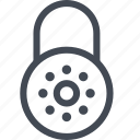 combination, padlock, secure, security icon