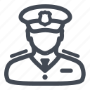people, policeman, secure, security icon
