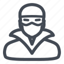 people, secure, security, thief icon