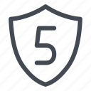 level, level five, secure, security icon