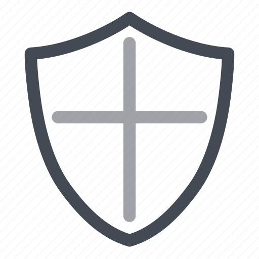 gray, protection, secure, security, shield icon
