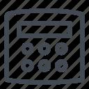 alarm, central, security, sound, unit icon