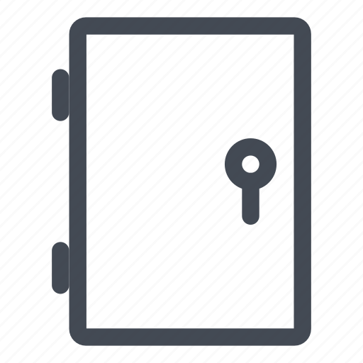 closed, door, lock, security icon