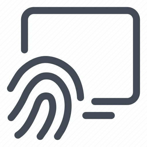 access, computer, fingerprint, hand, security icon