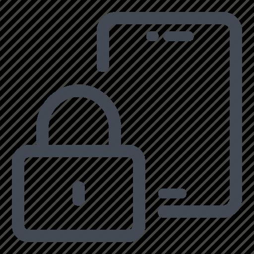 closed, lock, padlock, phone, security icon