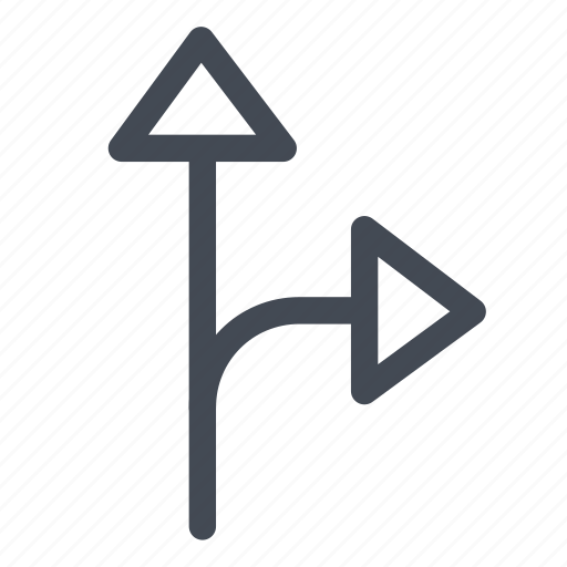 arrows, directions, logistic, right straight icon