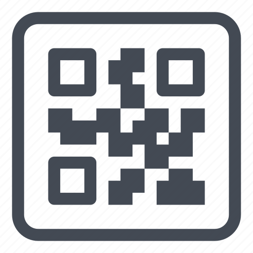 identified, label, logistic, qrcode icon