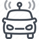 autonomous, car, transportation, vehicle icon