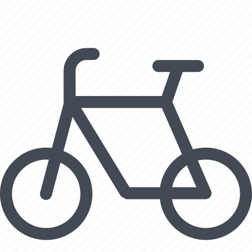 bicycle, side, transportation, vehicle icon