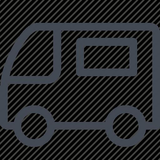small, transportation, van, vehicle icon