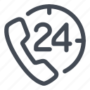 24h, appeal, call, phone icon