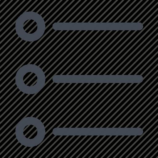 bullet, bullets, list, menu, points, text icon