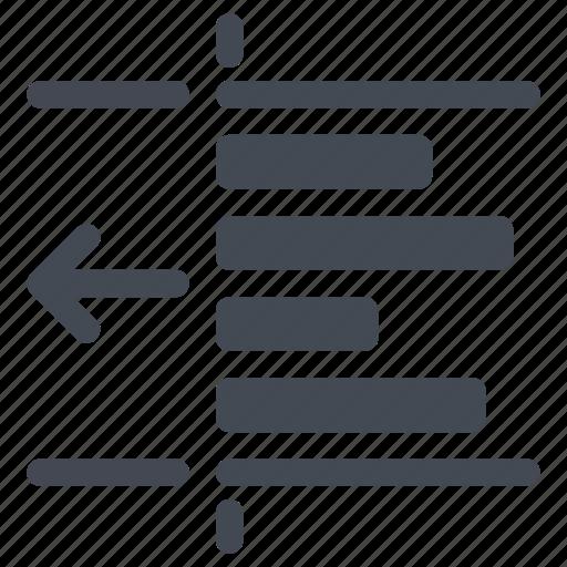 document, left, paragraph, text, unindent icon