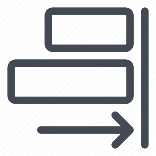 align, figures, right, shapes icon
