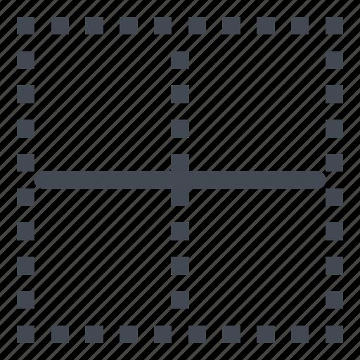 border, borders, cell, horizontal, inside icon