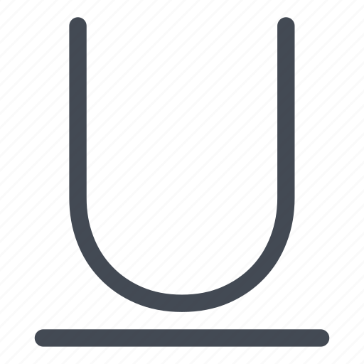 character, large, mode, processing, style, text, underline icon
