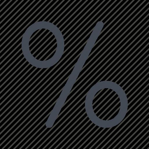 percentage, small, view icon