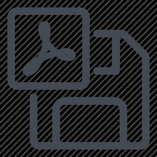 as, pdf, save icon