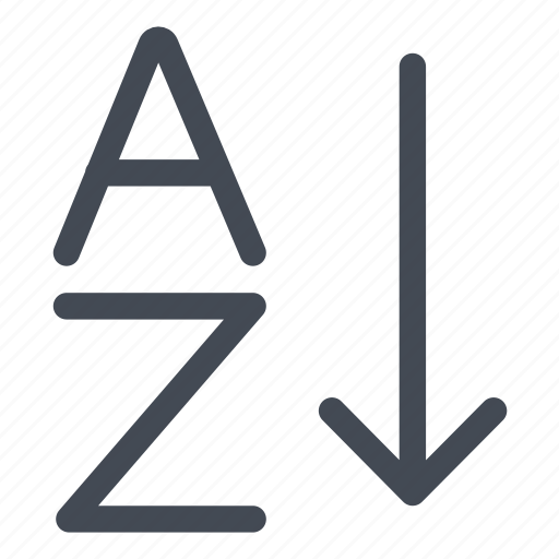 alphabetical, az, order, sort icon