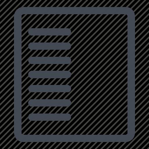column, left icon