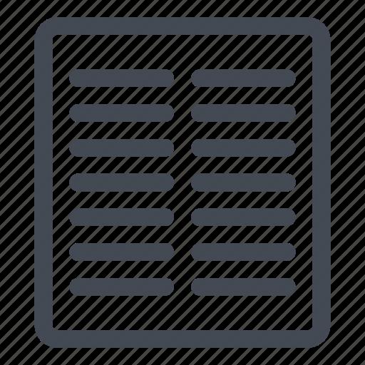 column, two icon