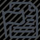 document, flag icon