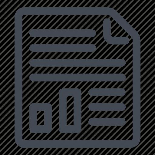 chart, document, graph, illustration, text icon